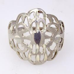 Attractive Sterling Filigree Ring
