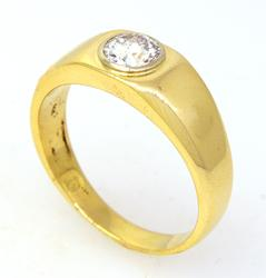 Mens 0.80 CT Diamond Ring in Gold, Size 13