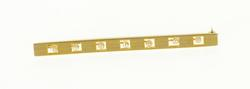 14K Yellow Gold Seed Pearl Grooved Square Cut Out Bar Pin/Brooch