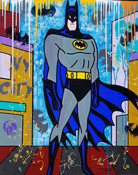 Original Batman Acrylic by Jozza