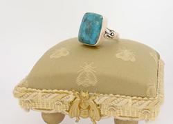 Traditional Turquoise Ring In Sterling