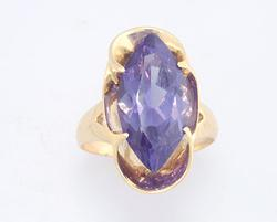 Color Change Lab Created Sapphire Ring