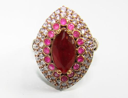 Attractive Gemstone & Intricate Design 925 Silver Ring