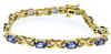 Stellar Tanzanite & Diamond X Link Bracelet