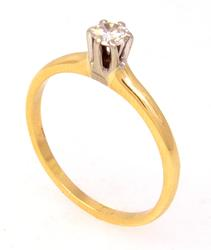 Diamond Ring in Gold, Size 7.75