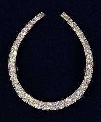 Vintage VS Diamond and Platinum Horseshoe Pin, 2.25CTW
