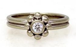 Tiffany & Co Diamond Ring in 18K White, Size 6