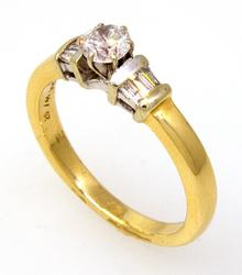 Beautiful .60CTW Diamond Ring in Gold, Size 8.25