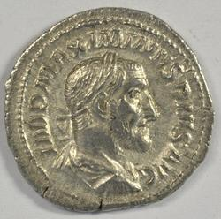 Mint Maximinus I Roman Silver Denarius, 235-238 AD