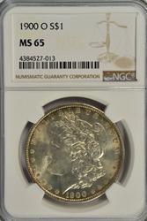 Solid Gem BU 1900-O Morgan Silver Dollar. NGC MS65
