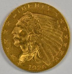 Lovely original 1926 US $2.50 Indian Gold Piece