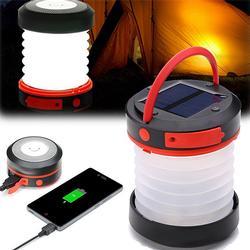 Solar LED Camping Lantern USB Rechargeable Light Hike