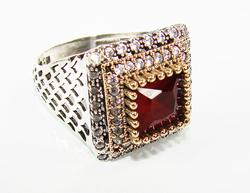 Exquisite Sophisticated Large GEM Handmade 925 S Ring