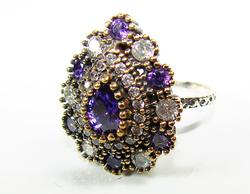 Fascinating Handmade Intricate details Gem 925 S Ring