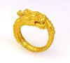 24K Fine Gold Dragon Ring, Size 7