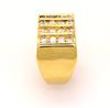 Men's Statement Diamond Ring in Gold, Size 8.5