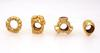Four Pandora Gold Charms, Diamond Accent Bouquet, Etc