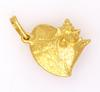 Gorgeous Gold Conch Shell Pendant with Diamond Accent
