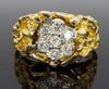 14K Yellow Gold Nugget Style Diamond Ring