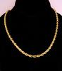 4mm Thick Gold Rope Necklace