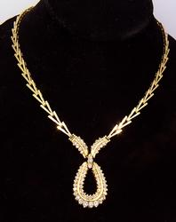 Brilliant 1.5 CTW Diamond Necklace, 16 inch in Gold