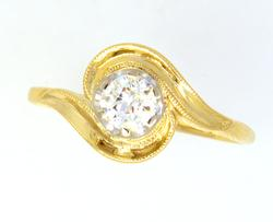 Sparkling .75CT Diamond Ring in Gold, Size 9.5