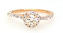 Sparkling Diamond Ring in Rose Gold, Size 6