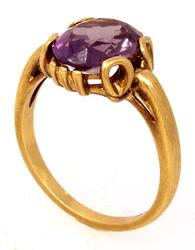 Stunning Violet Sapphire Ring in Gold, Size 6.25