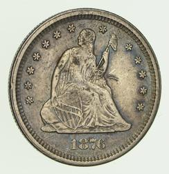 1876-S Seated Liberty Quarter - Circulated