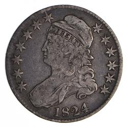 1824 Capped Bust Half Dollar - Circulated