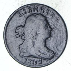 1802/0 Draped Bust Half Cent - Sharp