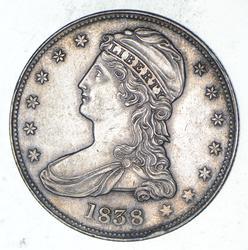 1838 Capped Bust Half Dollar - Choice