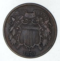 1870 Two-Cent Piece - Circulated