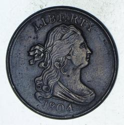 1804 Draped Bust Half Cent - Sharp