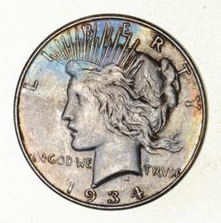 1934-D Peace Silver Dollar - Beautiful Tone