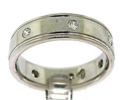 Gent's White Gold Diamond Ring