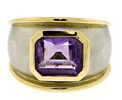 Beautiful 2-Tone Amethyst Ring
