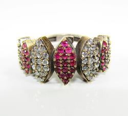 Charming Classic Design Multi Gems 925 SS Ring