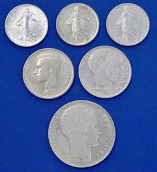 French Silver Coin Lot, Estate