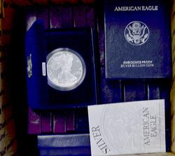 First 16 Proof Silver Eagles 1986-2001
