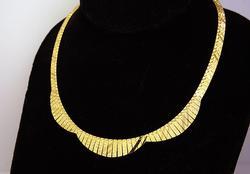 Unique Reversible Gold Necklace w Laser-Etched Design