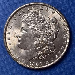 BU 1889 Morgan Silver Dollar