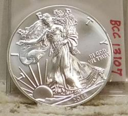 2018 Uncirculated Silver Eagle, 1 oz pure Silver