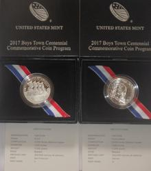 2017 Boys Town Proof and Unc Half Dollars