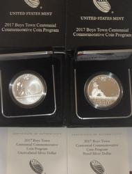2017 Lions Club Intl Proof Silver Dollars with boxs and papers