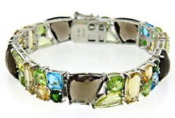 Very Nice Multi Gemstone Bracelet