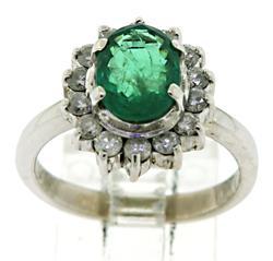 Amazing Oval Emerald and Diamond Ring