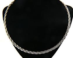 White Gold Braided Necklace
