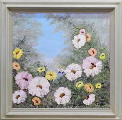 Phyllis Cubb, Spring Flowers Original Oil On Canvas