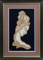Rare Gustave Kaitz Original Goauche Titled 'Decollete'